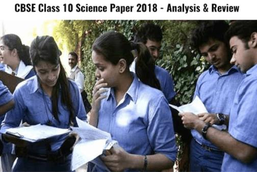 CBSE Class 10 science paper 2018 analysis