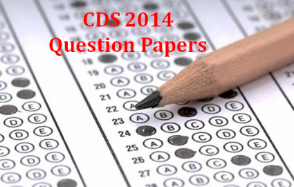 UPSC CDS QUESTION PAPER 2014