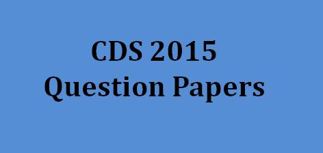 UPSC CDS Question Paper 2015