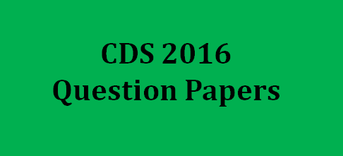UPSC CDS Question Paper 2016