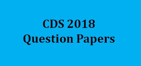 UPSC CDS Question Paper 2018