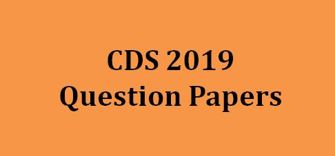 CDS Question Paper 2019