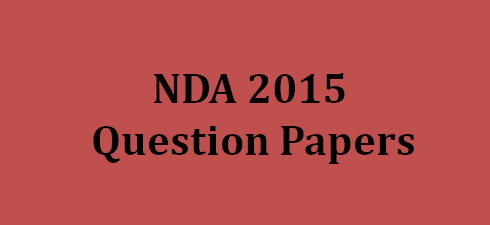 nda question paper 2015