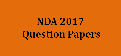 NDA Question Paper 2017