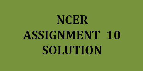 NPTEL NCER Assignment 10 answers