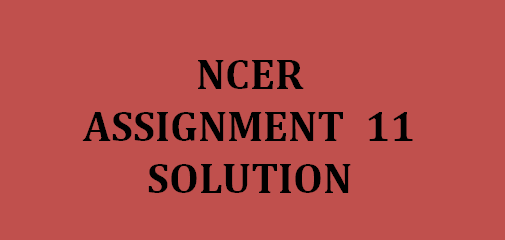 NPTEL NCER Assignment 11 answers