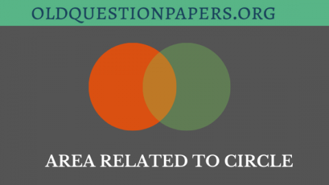 Area related to circle